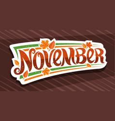 Banner for november vector