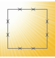 barbed wire frame vector image