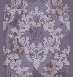baroque purple background vector image