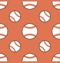 baseball softball sport game seamless vector image