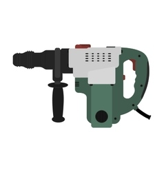 Big electric hammer drill clip art vector image