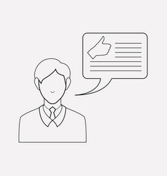 Blog commenting icon line element vector