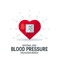 Blood pressure month concept in flat style vector