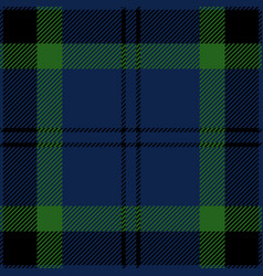 blue green and black tartan plaid seamless pattern vector image