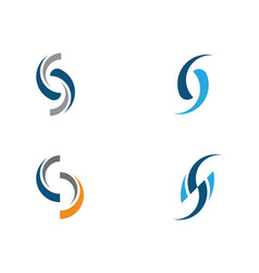 business corporate s letter logo vector image