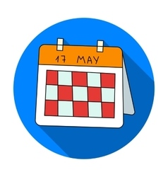 Calendar icon in flat style isolated on white vector image