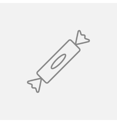 Candy line icon vector