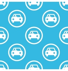 Car sign blue pattern vector