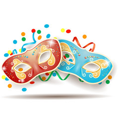carnival masks isolated on white background vector image
