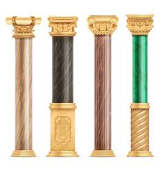 Classic arabic architecture golden columns vector
