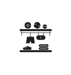 closet shelves black concept icon closet vector image