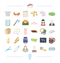 Clothes theater food and other web icon in vector