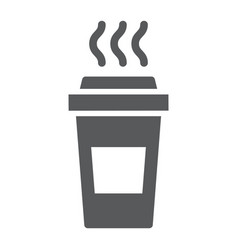 coffee glyph icon caffeine and drink disposable vector image