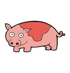 Comic cartoon pig vector