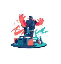 cool stylish dude vector image