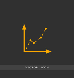diagram icon simple vector image