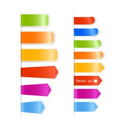 Different color stickers vector