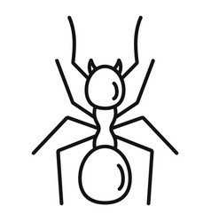 Digger ant icon outline style vector