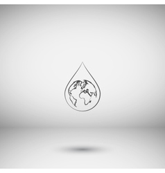 Earth in water-drop vector