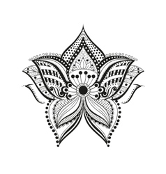 Ethnic flower ornament vector