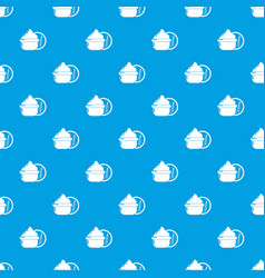face cream pattern seamless blue vector image