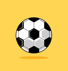 football ball cartoon soccer ball isolated vector image