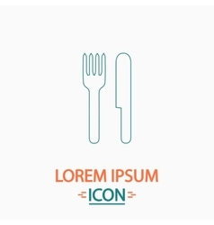 Fork and knife computer symbol vector