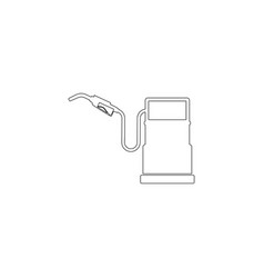 Gasoline filling station flat icon vector