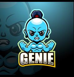 Genie mascot esport logo design vector