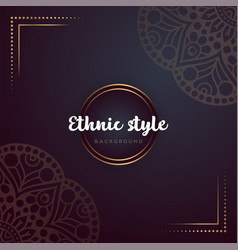 Gold background with mandala vector