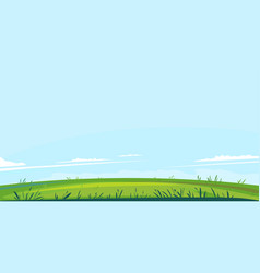 green lawn and blue sky vector image
