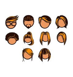 Hairstyle icon set vector