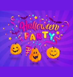 Halloween kids party banner vector