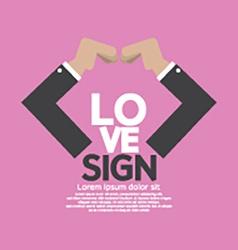 Hands Making Heart Sign vector