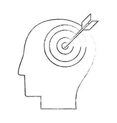 Head human target creativity sketch vector