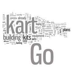 How to build your own go kart vector