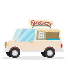 Ice cream flat vector
