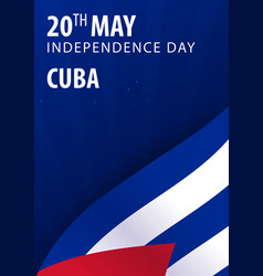 independence day of cuba flag and patriotic vector image