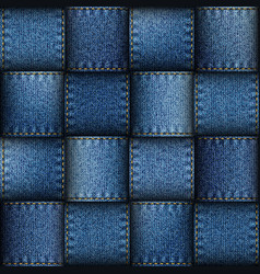 Jeans patchwork background vector