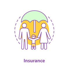 Life insurance policy concept icon vector