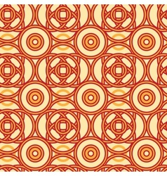 Magical celtic circles seamless pattern background vector