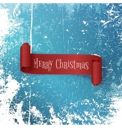 Merry Christmas realistic red Ribbon vector image
