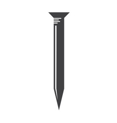 Metal nail icon vector
