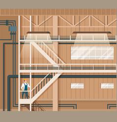 Modern indoor smart storage or warehouse design vector