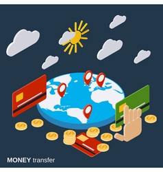 Money transfer financial transaction concept vector image