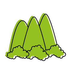 Mountains icon image vector