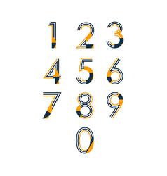 number set template design vector image