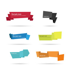 paper tags origami vector image