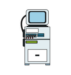 patient monitor icon image vector image