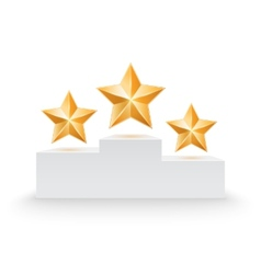 Pedestal with three stars vector image